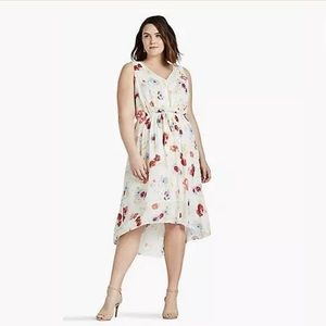 Lucky Brand | Plus Size Ivory Floral Hi Lo Dress